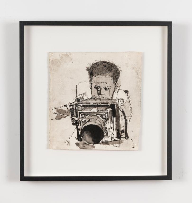 Untitled (Laure with Camera), ca. 1982–85 © Darrel Ellis. Courtesy of Candice Madey, New York