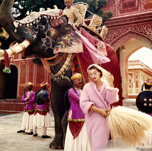Anne Gunning in Jaipur by Norman Parkinson