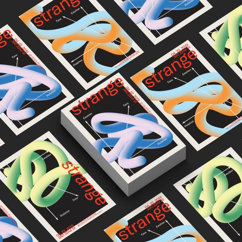 Strange Poster Series by Danyang Ma. Winner in the Graphics and Visual Communication Design Category, 2019-2020.