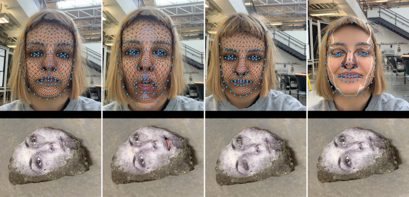Talking Rock – Anthropomorphic experimentation with facial recognition