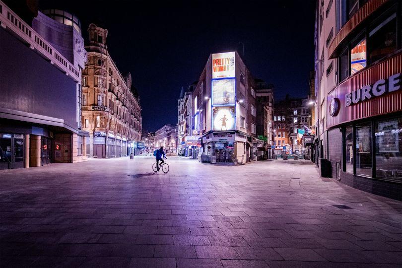Leicester Square, 9 April 2020 © Jan Enkelmann