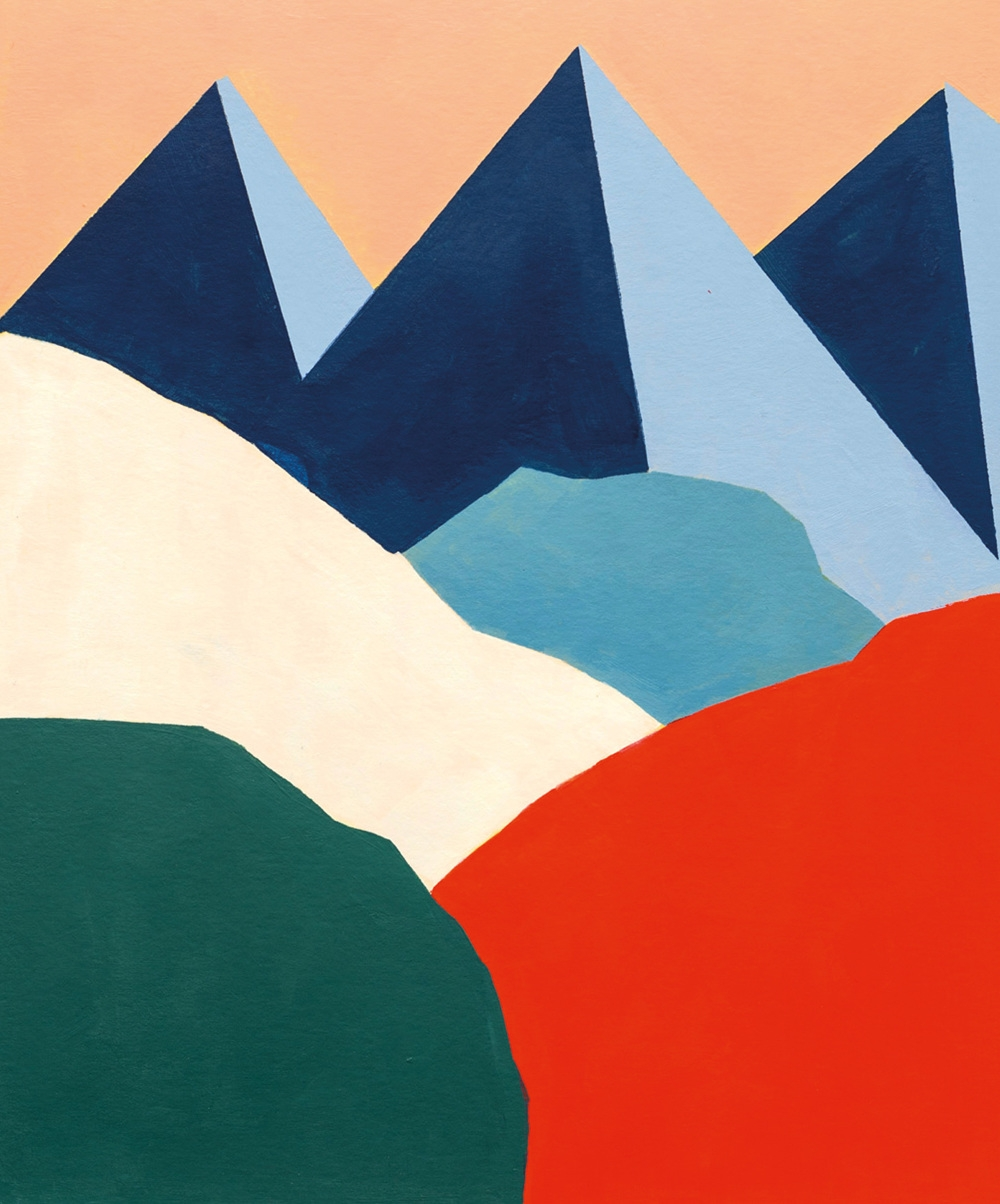 séverine dietrich s graphic artworks of mountains reach appealing