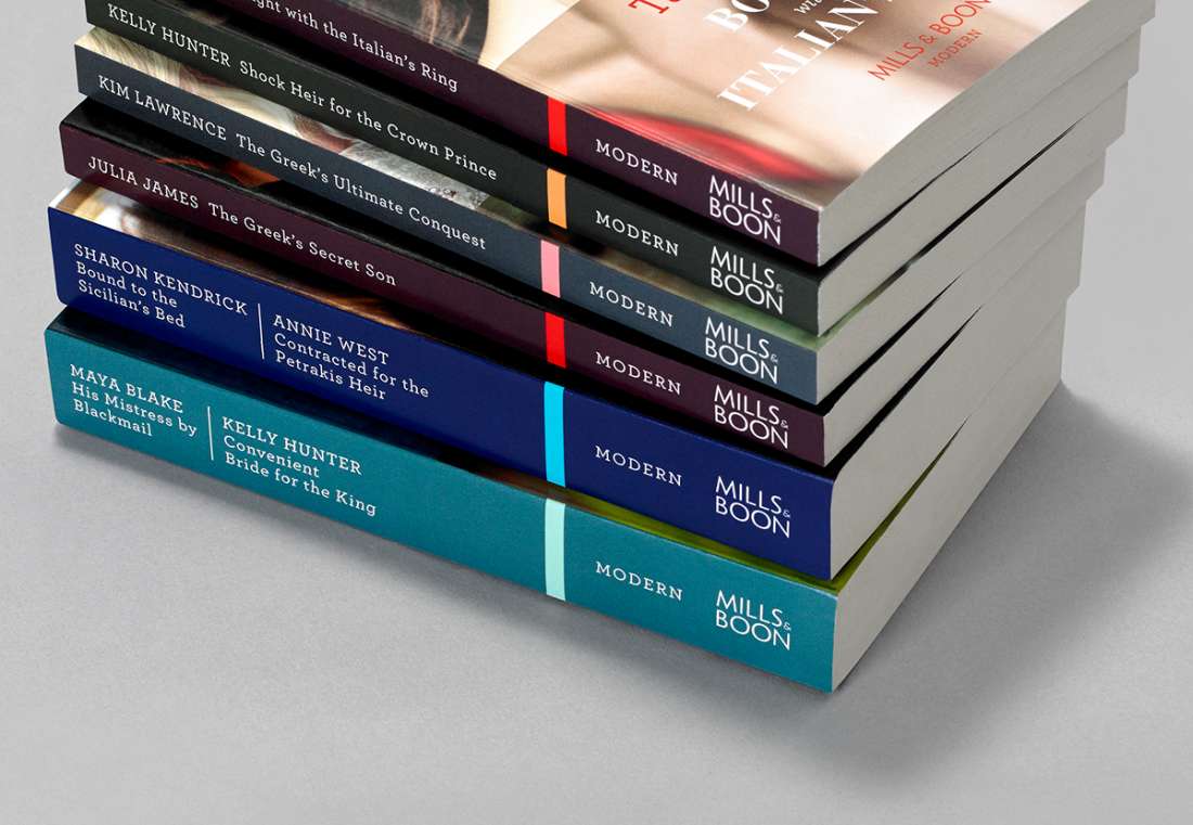 Pentagram's new identity for saucy novels publisher Mills & Boon