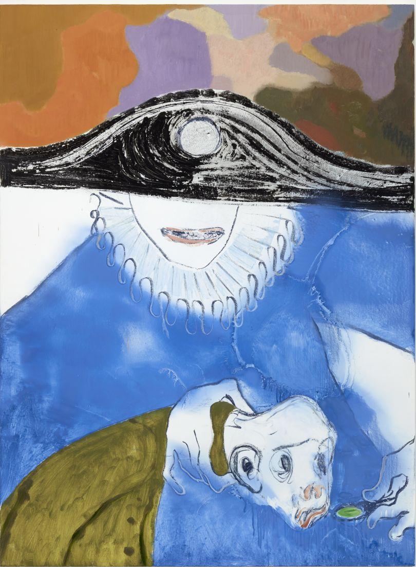 Sanya Kantarovsky Feeder 2016 Oil and oil pastel on canvas 190.7 x 140 cm T14830 Tate: Presented by Stuart Shave © Sanya Kantarovsky; Courtesy of the artist, Modern Art, London, and Luhring Augustine, New York