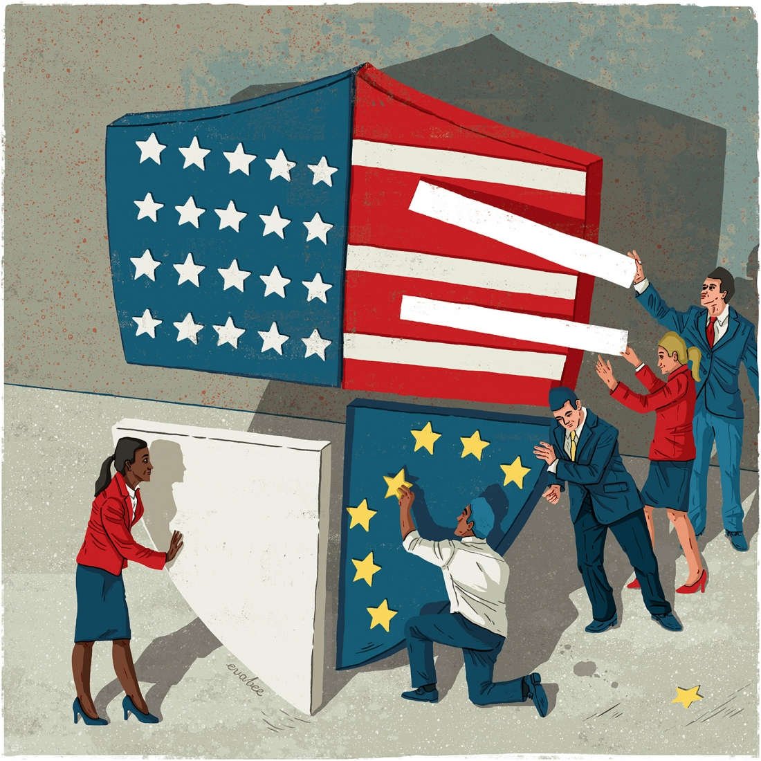 Politico Europe: Opinion illustration