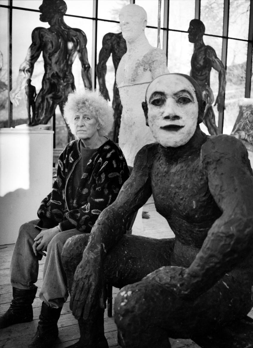 Anne Purkiss Dame Elisabeth Frink, 1990. © Anne Purkiss