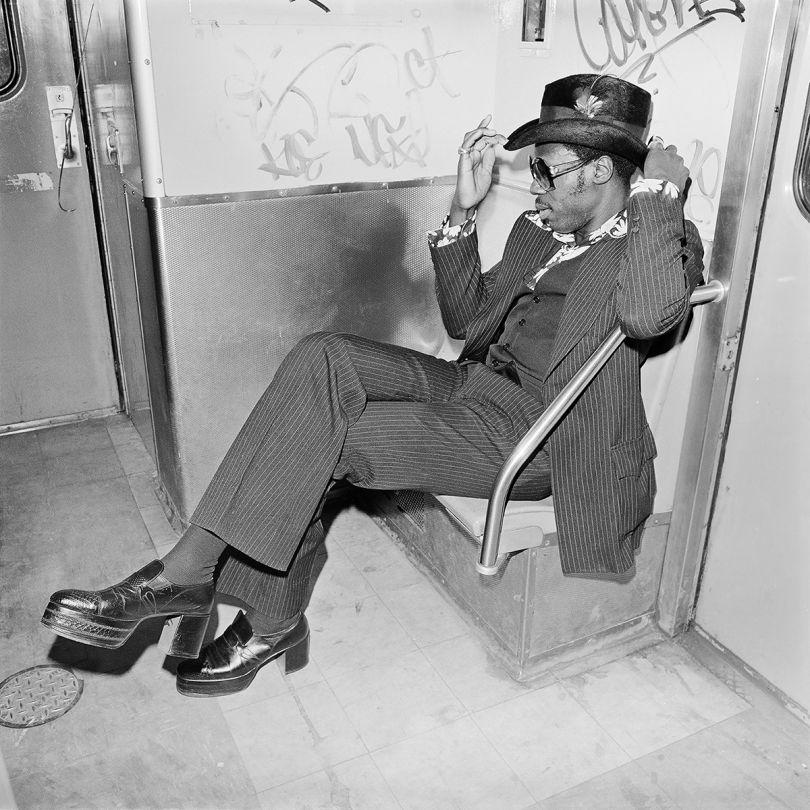 Jive Guy on Williamsburg Subway, Brooklyn NY, March 1978 ©Meryl Meisler