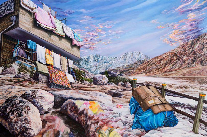 Kevin Chin, Pilgrimage, 2017, oil on Italian linen, 132 x 198 cm