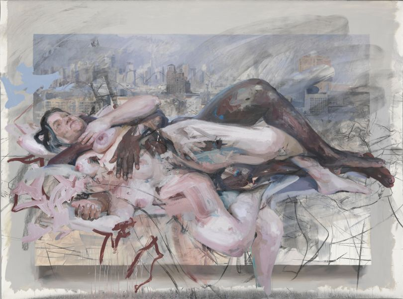 Olympia, 2013 - 2014 Charcoal and oil on canvas, 217 x 290 cm  © Jenny Saville. Courtesy of the artist and Gagosian