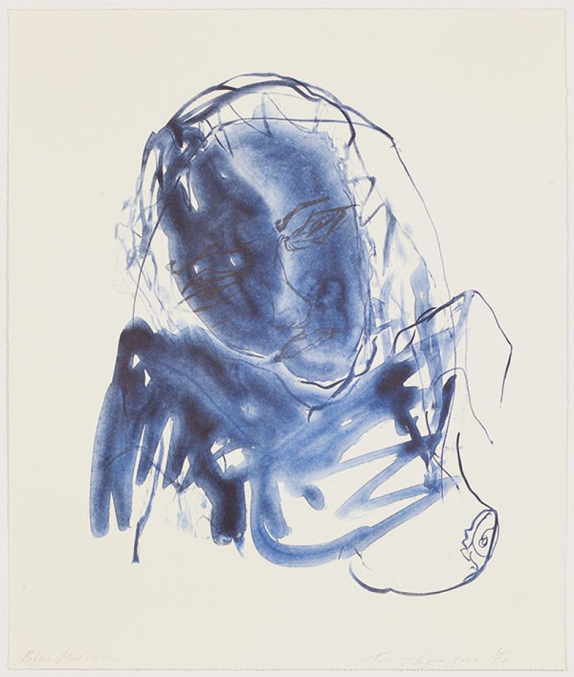 Blue Madonna (2020) by Tracey Emin