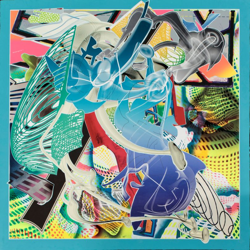 Frank Stella, American, born 1936. Cantahar, 1998. Lithograph, screenprint, etching, aquatint and relief on paper, 133.35 cm x 133.35 cm. Addison Gallery of American Art, Phillips Academy, Andover, MA, U.S.A. Tyler Graphics Ltd. 1974-2001 Collection, given in honor of Frank Stella, 2003.44.274. / © 2017 Frank Stella / Artists Rights Society (ARS), New York