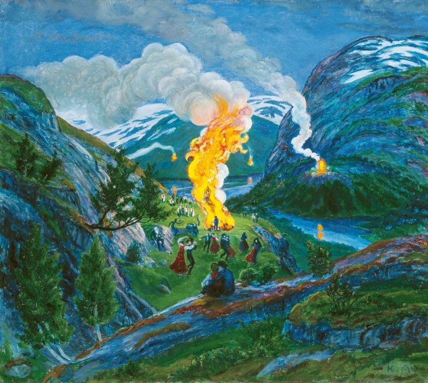 Painting Norway Beloved Artworks Of Norway By Nikolai