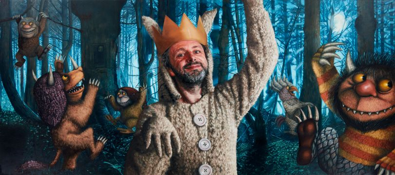 Michael Sheen as Max from Where The Wild Things Are Oil on Canvas 135 x 60cm
