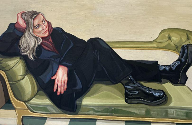 Dr Martens, 150 x 100cm, oil on canvas © Ania Hobson
