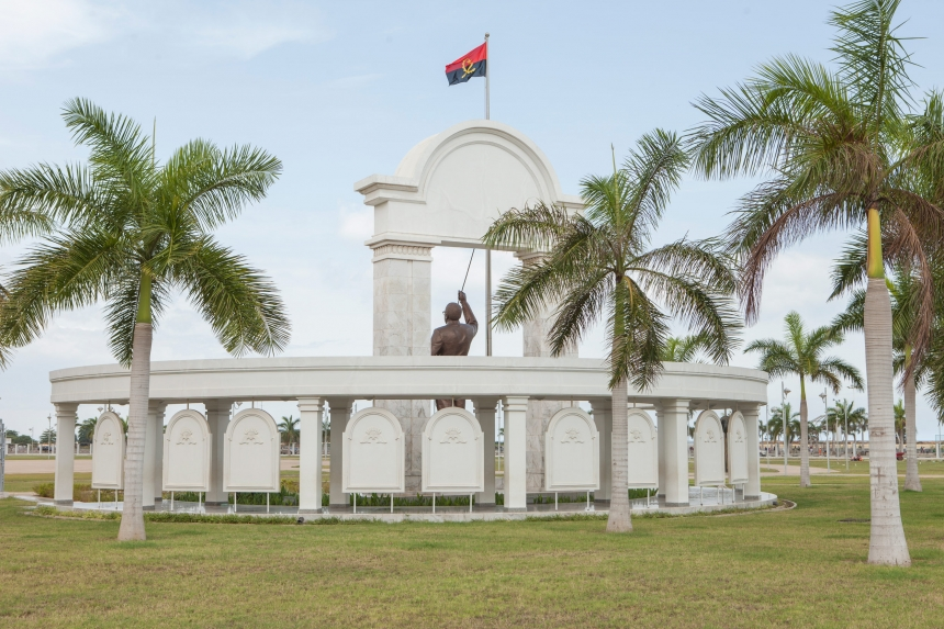 One of the numerous monuments dedicated to Agostinho Neto, father of independent Angola