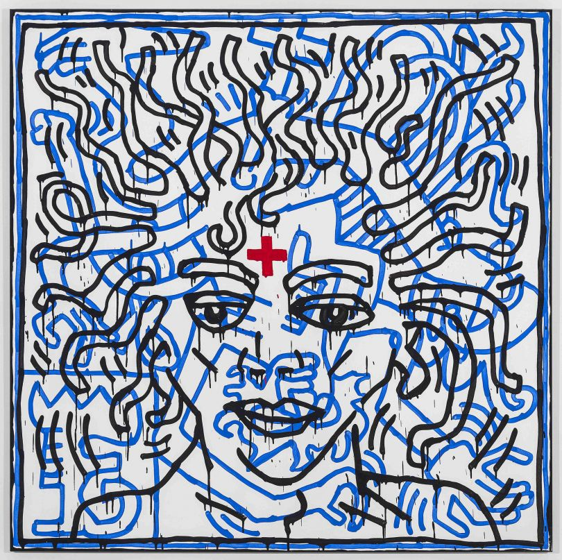 Untitled by Keith Haring 1984. Private Collection © 2018 The Keith Haring Foundation