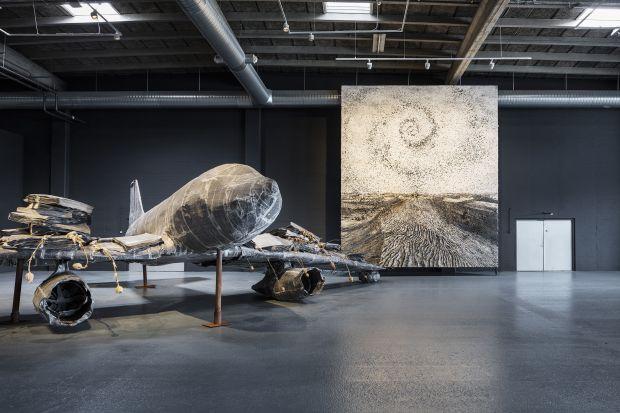 Anselm Kiefer. For Louis-Ferdinand Céline: Voyage au bout de la nuit. Installation shot, Copenhagen Contemporary 2016. Photo: Anders Sune Berg