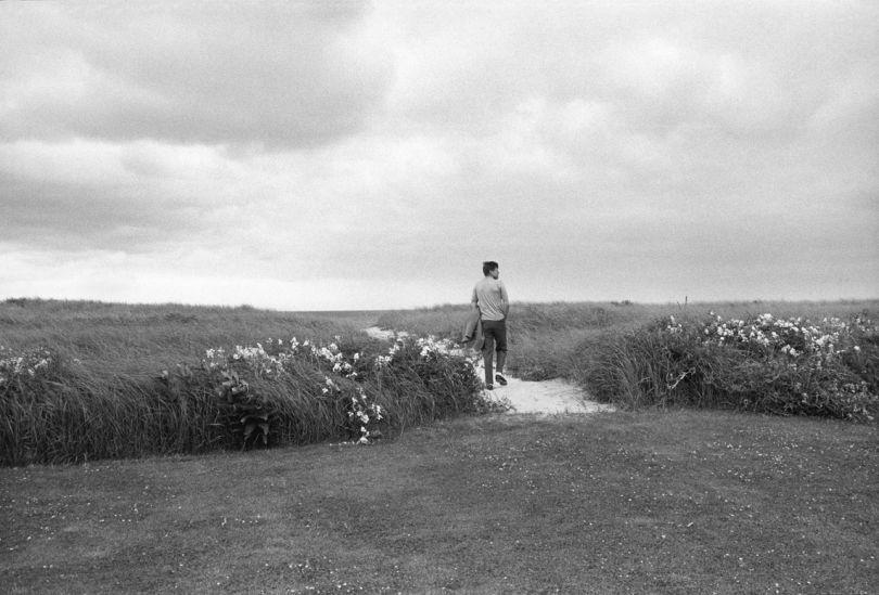JFK on the dunes near Hyannis Port, 1959 © Mark Shaw / mptvimages.com