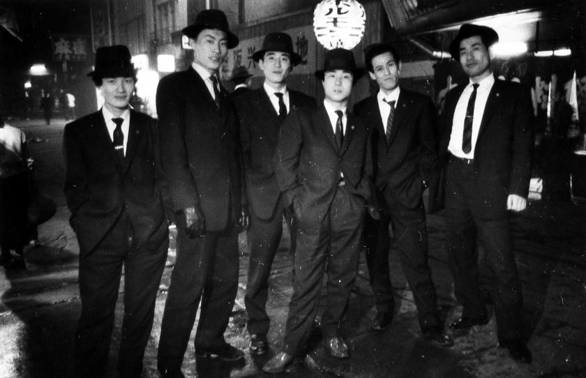 Gangsters, Osaka, Japan, 1960. All images copyright Ed van der Elsken, courtesy of Howard Greenberg Gallery, New York