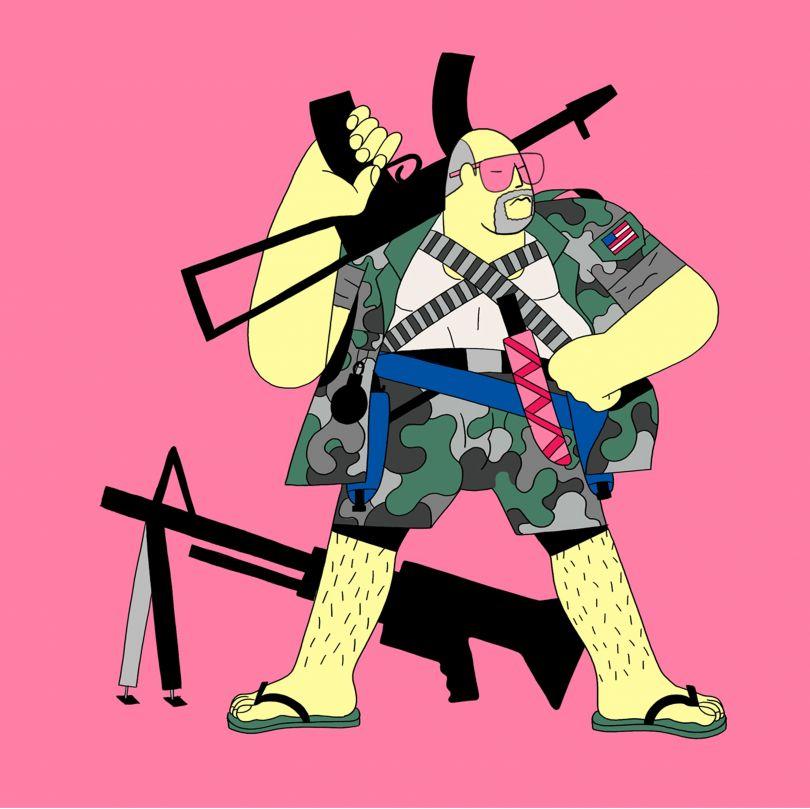 [Weaponoid](https://quaranoids.com/gallery/weaponoid) by [Fabio Buonocore](https://fabuloworld.tumblr.com/)