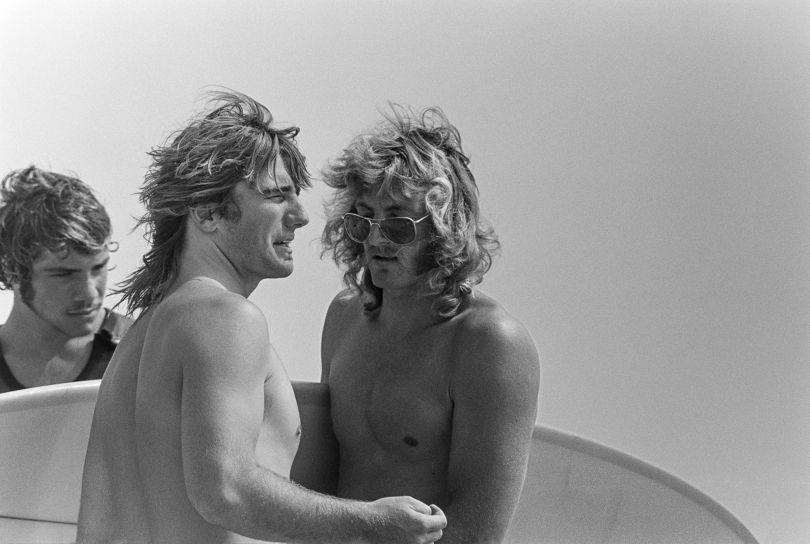 Allen Sarlo, Glen Kennedy, John Thornton, Malibu, CA 1971 – Photo © Jeff Divine