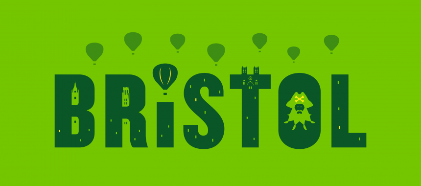 Illustrations of Bristol for the Shaun in the City charity project