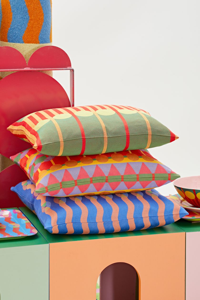 OMI Cushions by Yinka Ilori. Photography by Andy Stagg