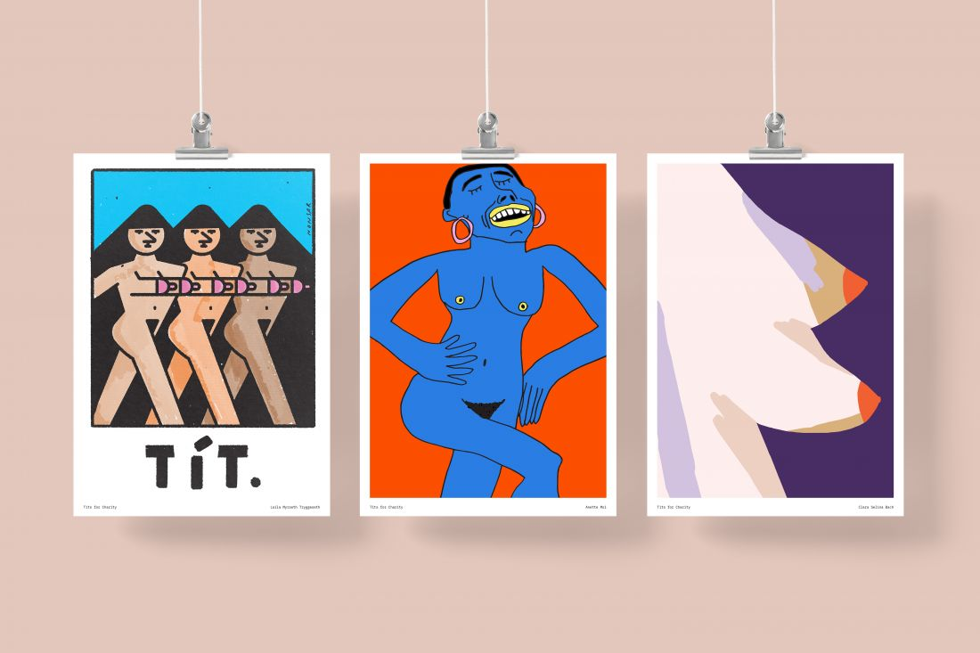 'These Boobs Have Purpose' offers prints by leading illustrators to raise money to fight breast cancer