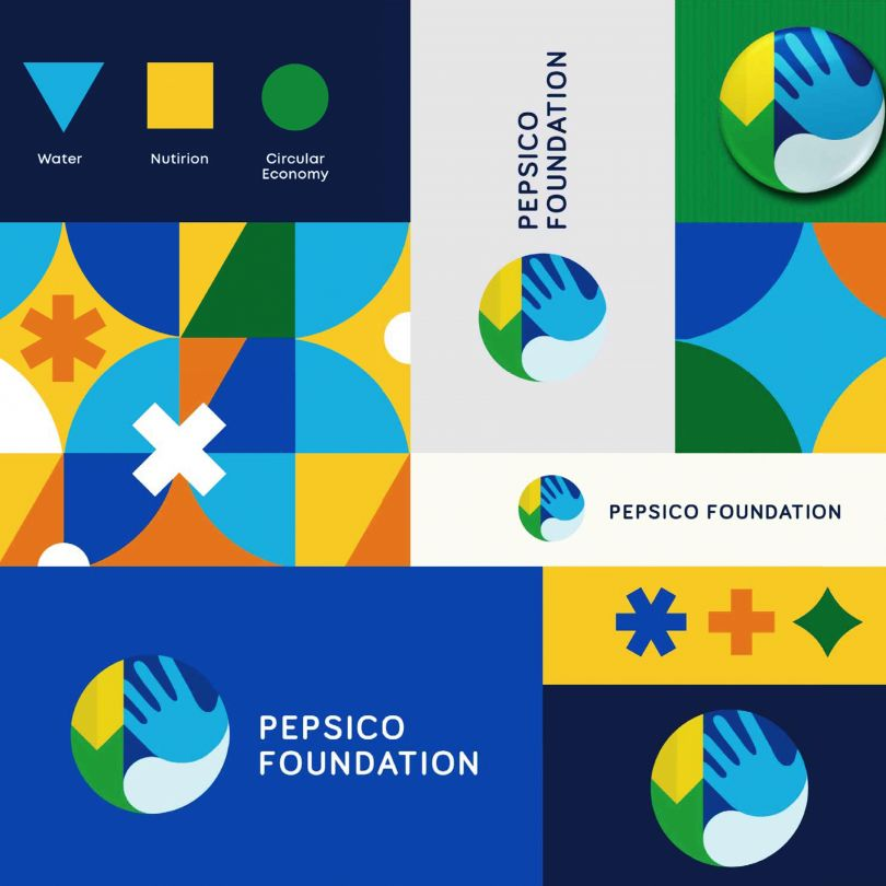 Pepsico Foundation Identity System by Dennis Furniss, winner in the Graphics, Illustration and Visual Communication Design Category, 2020-2021.