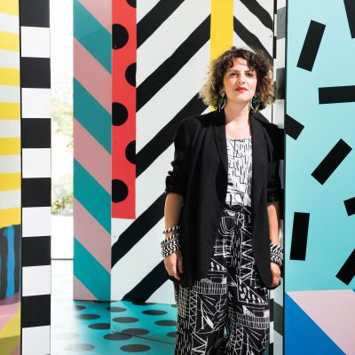 Camille Walala. Photography by Charles Emerson. Image courtesy of Zetteler.