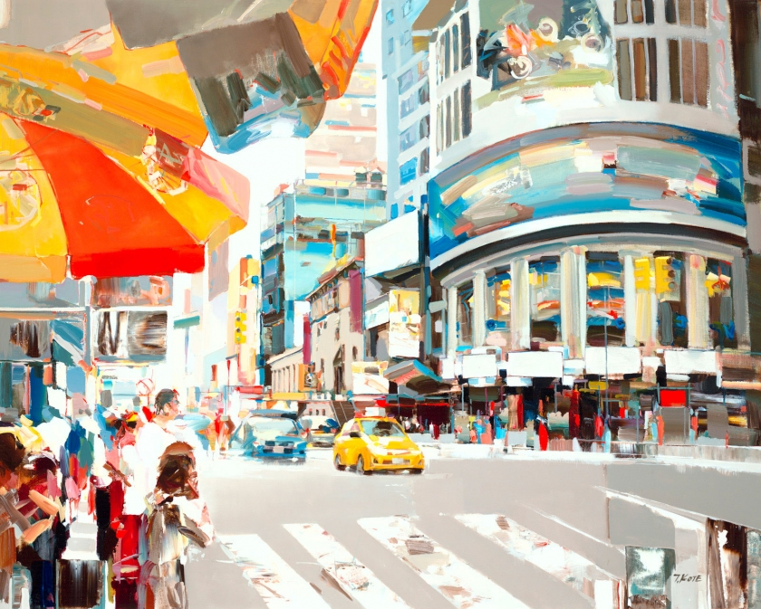 Colourful, energetic paintings of country, sea and cityscapes by Josef Kote