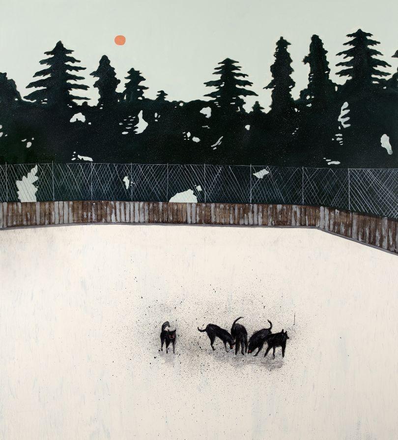 The Burning Plain, 2018, oil on canvas, 190 x 170 cm
