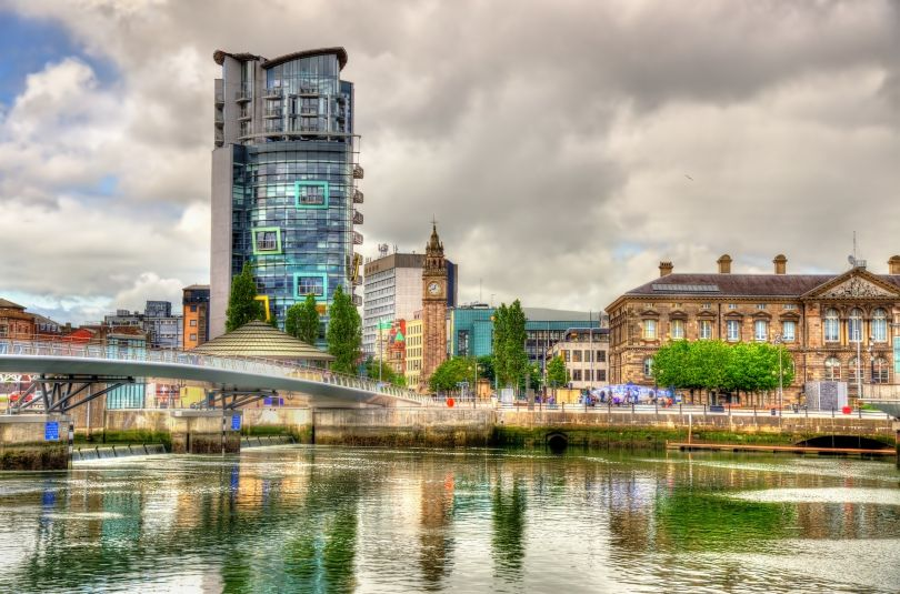 View of Belfast with the River Logan. Image courtesy of [Adobe Stock](https://stock.adobe.com/uk)