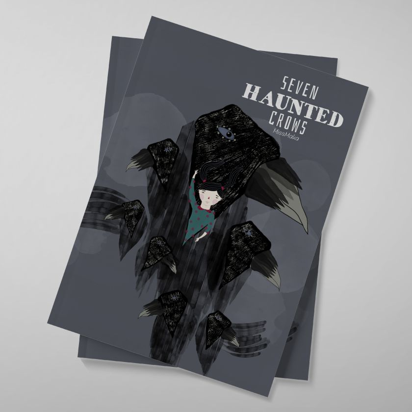 Seven Haunted Crows Book by Mariela Katiuska Baez Ramirez. Winner in the Graphics and Visual Communication Design Category, 2019-2020.