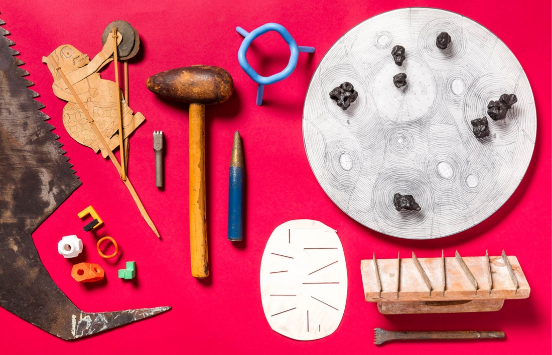 Artefacts from Isamu Noguchi's studio, Long Island City, NY. Courtesy The Isamu Noguchi Foundation and Garden Museum, New York