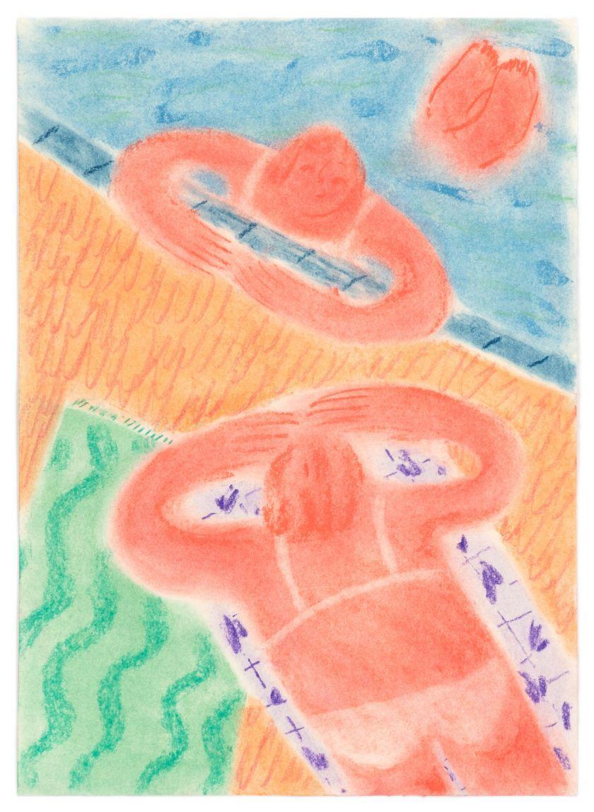 Coline Marotta, Untitled 3, 2019. Soft pastel & coloured pencil on paper