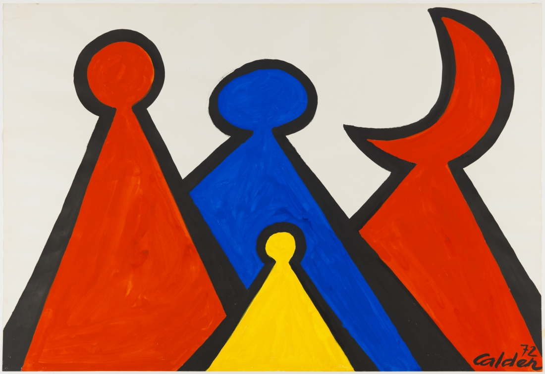 The Red Crescent, 1972 | Courtesy of Saatchi Gallery © Alexander Calder