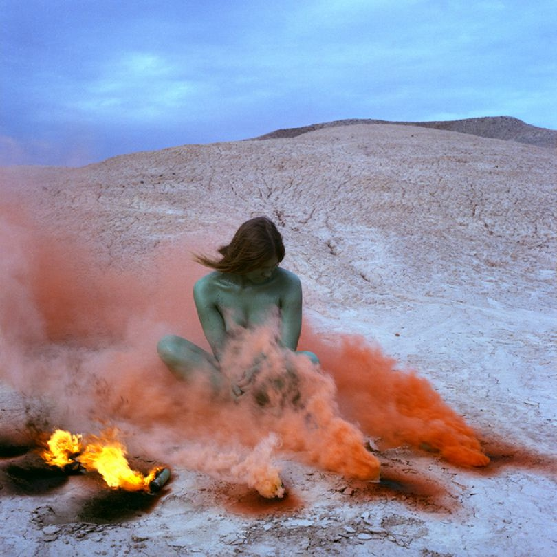 Immolation IV by Judy Chicago. Courtesy of the artist, Salon 94, New York, and Jessica Silverman Gallery, San Francisco