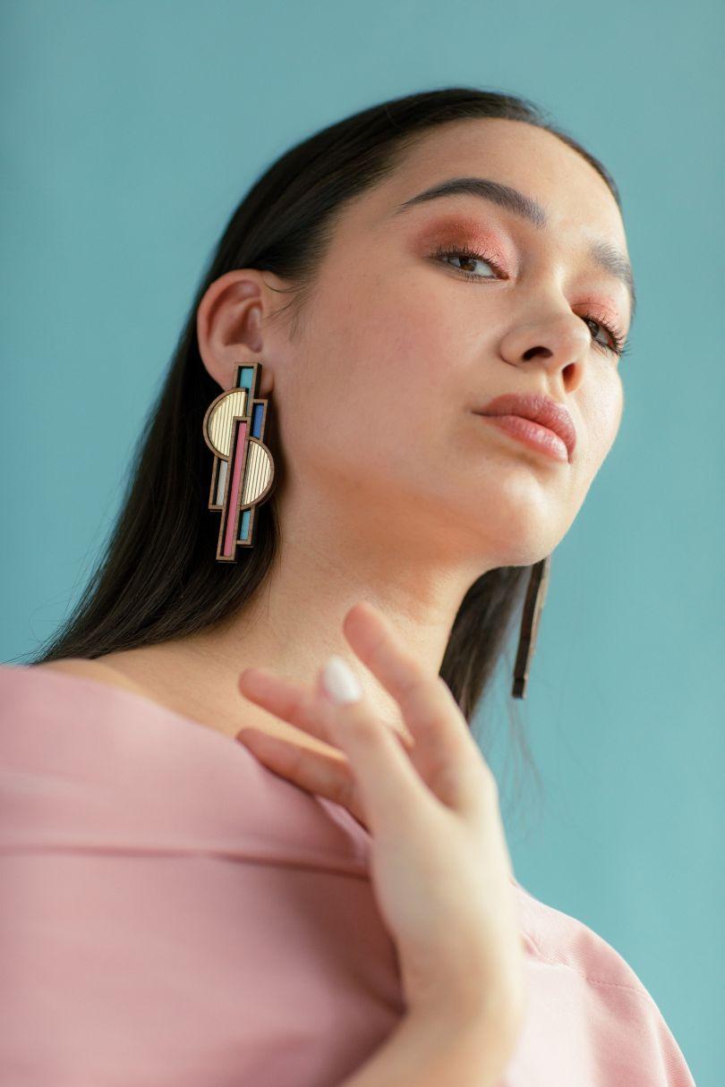 Apollo Blush earring by [Chalk](https://www.thechalkhouse.com/product-page/apollo-blush-earring). Priced at £80
