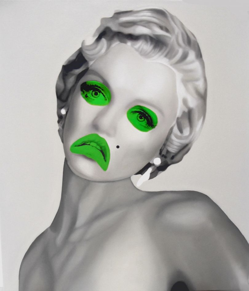 Green Marylin, Oil on canvas, 70x80cm © Teiji Hayama