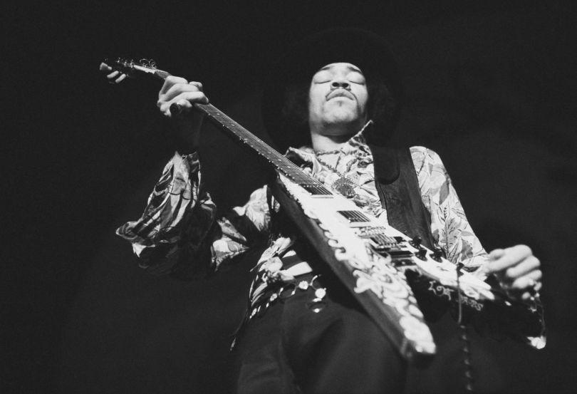 Baron Wolman, Jimi Hendrix, Gelatin silver print, 50.8 x 61 cm, © Baron Wolman   Iconic Images