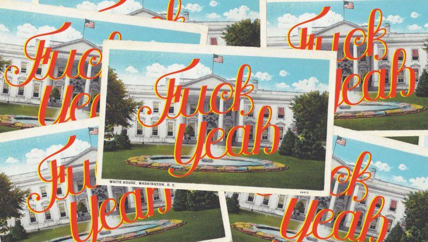Postcard celebrating the election of Joe Biden