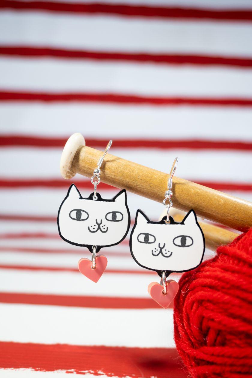I Hate You The Least earrings © Gemma Correll X Tatty Devine