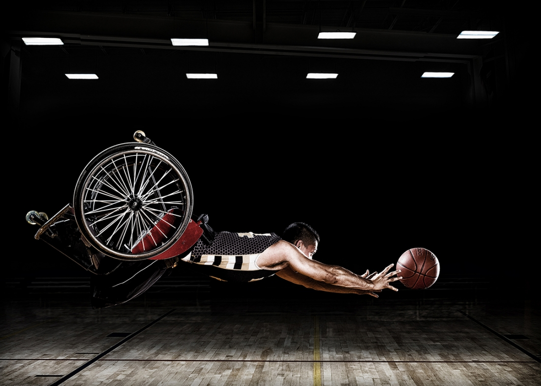 RIC Hornets - Rob Gregory: These images were created for the Rehabilitation Institute of Chicago's Adaptive Sports Program and the RIC Hornets wheelchair basketball team. (Professional Campaign)