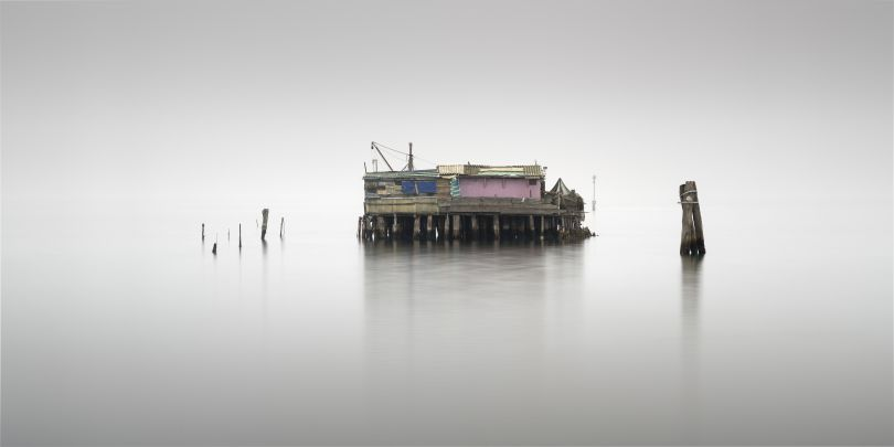 Casoni fishing huts. Copyright: © Rohan Reilly, Ireland, Shortlist, Professional, Landscape (Professional competition), 2018 Sony World Photography Awards
