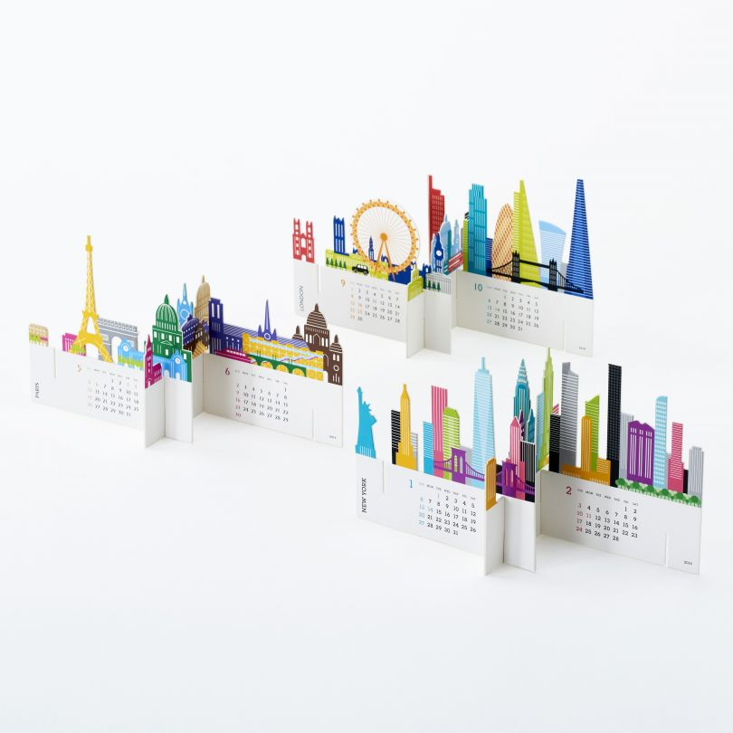 City Calendar by Katsumi Tamura is Winner in Graphics and Visual Communication Design Category, 2018 - 2019