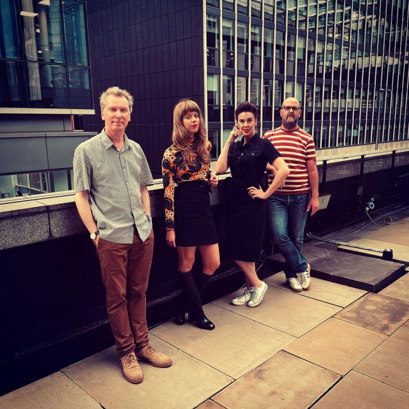 The modernist team L to R: Jack Hale, Ashiya Eastwood, Gemma Parker, Eddy Rhead