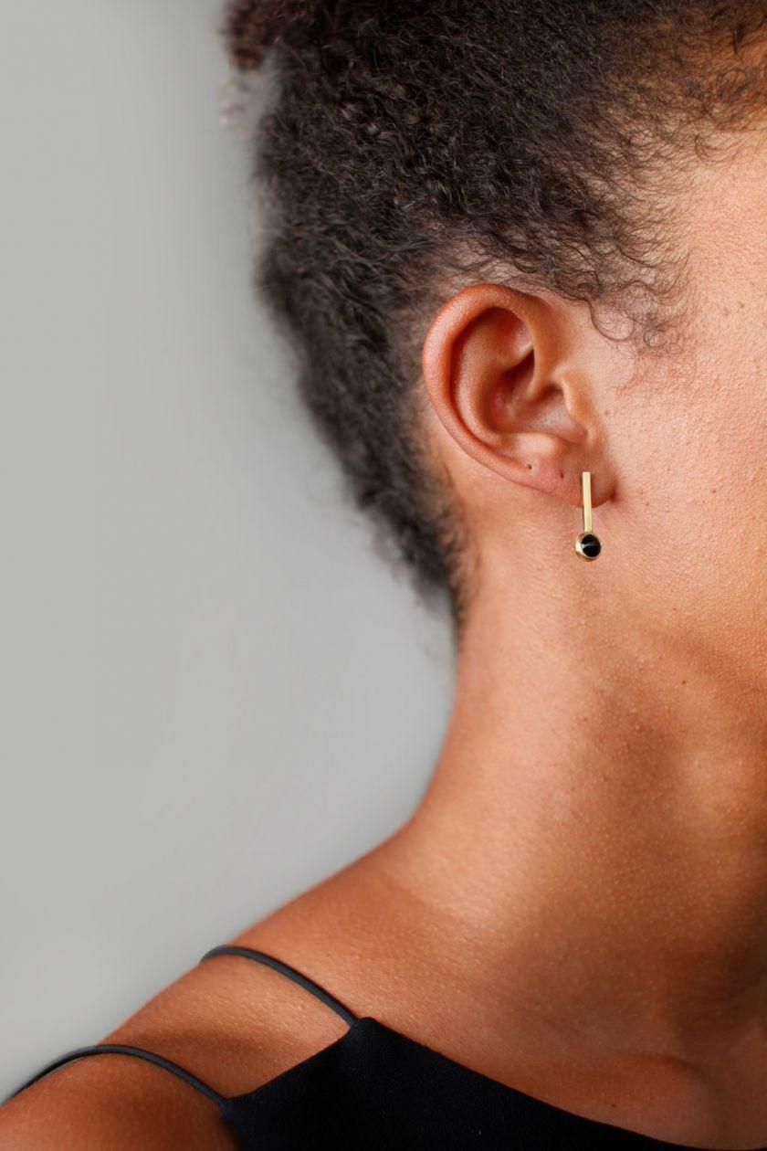 Pendulum I earring by [Abel](https://abelobjects.com/products/pendulum-i-earring). Priced at $140