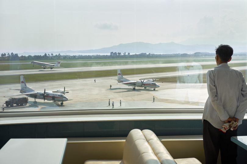 View over the tarmac of Kalma airport Wonsan