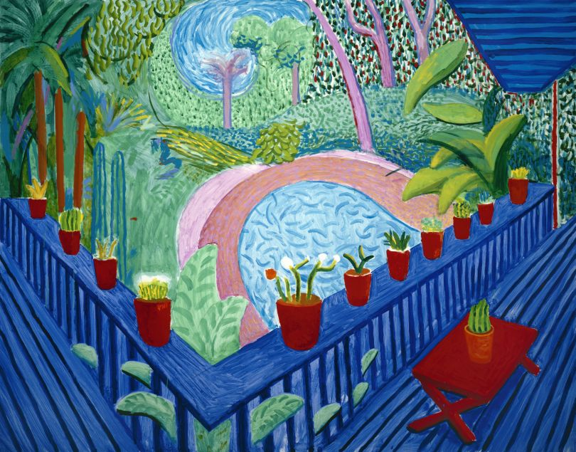 David Hockney – Red Pots in the Garden, 2000. © David Hockney Photo Credit: Richard Schmidt